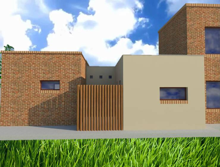 Vivienda en Russel – Maipú: Casas de estilo  por CALVENTE - TIÓN Arquitectas