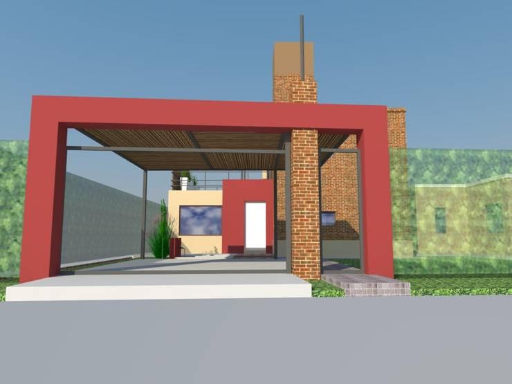 Remodelación y Ampliación en Bº Priv. Los Cerezos - Maipú.: Casas de estilo  por CALVENTE - TIÓN Arquitectas,
