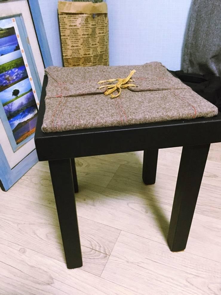 헌 의자와 안 입는 옷을 리폼하니 멋진 의자가 탄생했다.: GOOD FRIEND의