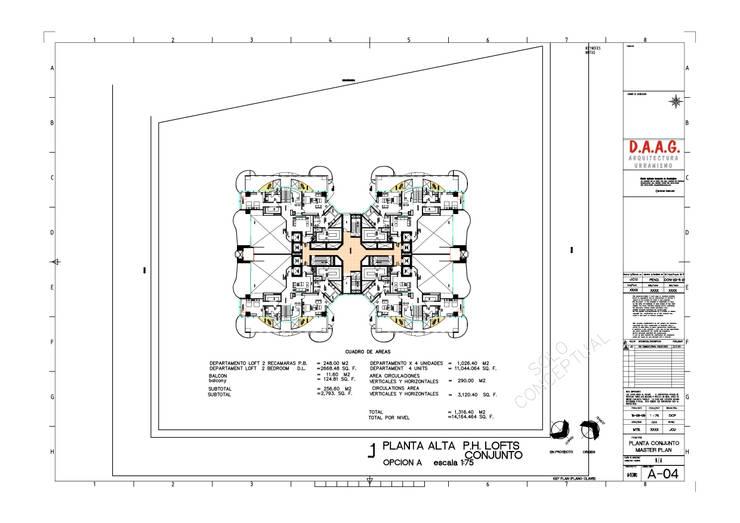TORRE VISION ALTITTUDE: Recámaras de estilo  por Diseño Aplicado Avanzado de Guadalajara