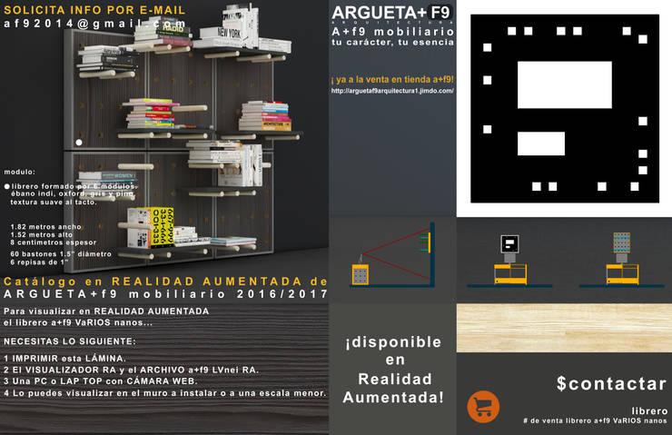 Librero/multimedia a+f9 varios nanos. Ahora en realidad aumentada.: Estudio de estilo  por argueta+f9 arquitectura