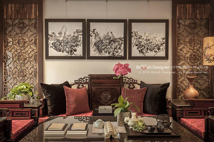 新東方-客廳,東方:  客廳 by 大不列顛空間感室內裝修設計