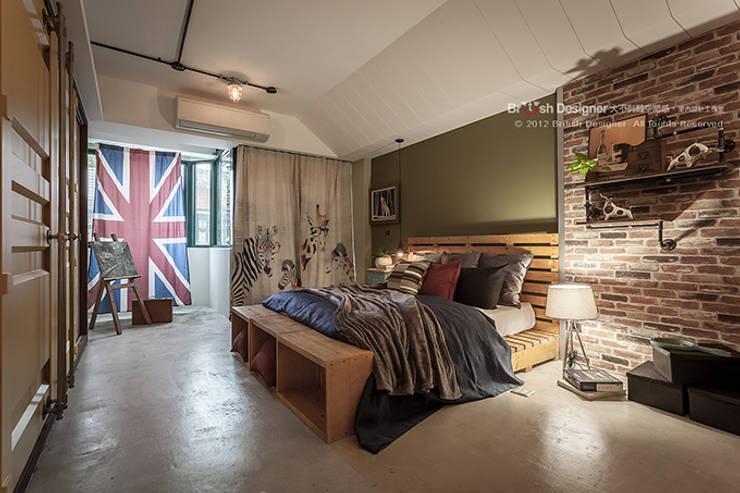 Dormitorios de estilo  por 大不列顛空間感室內裝修設計