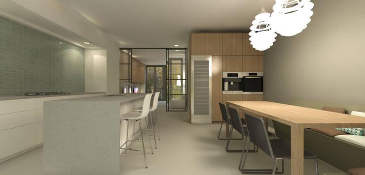 Keuken met kookeiland :  Keuken door Studio DEEVIS, Modern