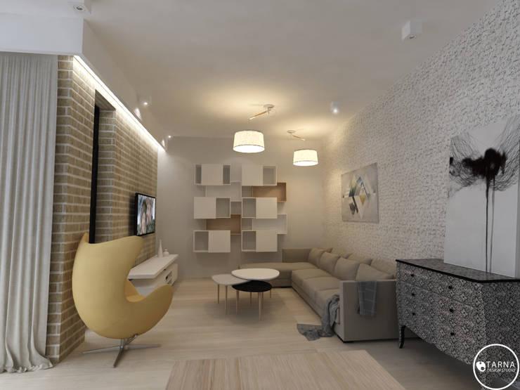 Apartament w Dzielnicy Willowej: styl , w kategorii Salon zaprojektowany przez Tarna Design Studio