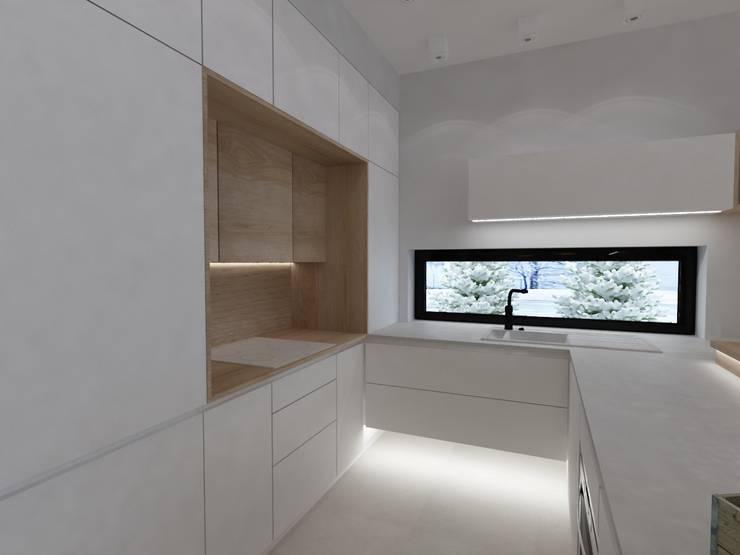 Apartament w Dzielnicy Willowej: styl , w kategorii Kuchnia zaprojektowany przez Tarna Design Studio