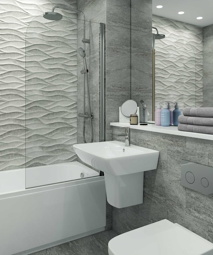 Bathroom CGI Visualisation #2: modern Bathroom by White Crow Studios Ltd