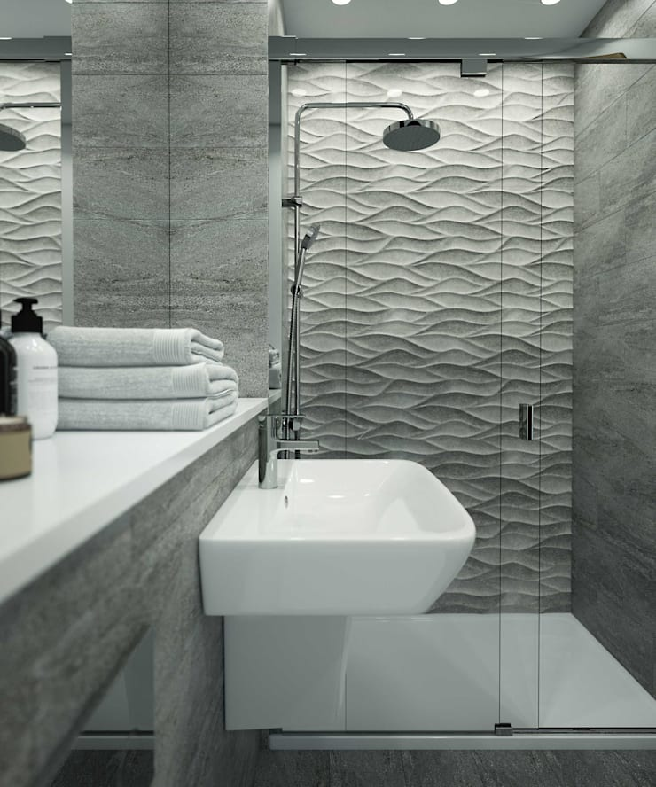 Bathroom CGI Visualisations #4: modern Bathroom by White Crow Studios Ltd