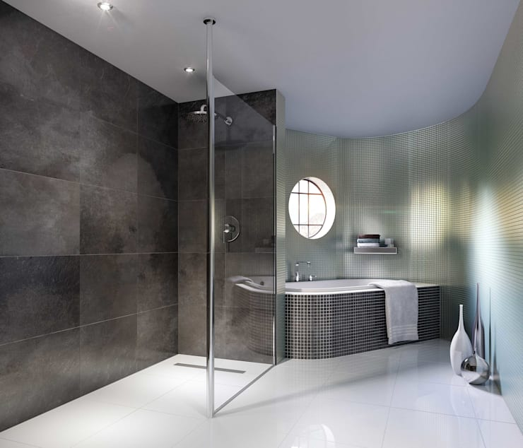Bathroom CGI Visualisation #7: modern Bathroom by White Crow Studios Ltd