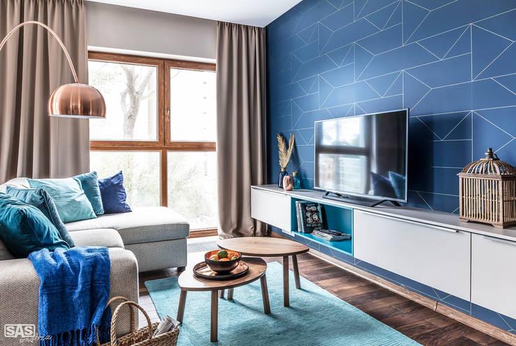 Living room by SAS, Modern