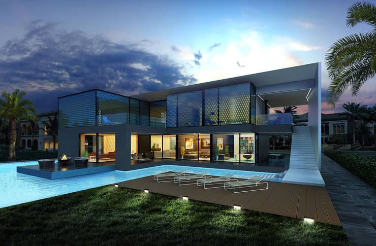 villa on the Palm Jumeirah: Дома в . Автор –  Aleksandr Zhydkov Architect