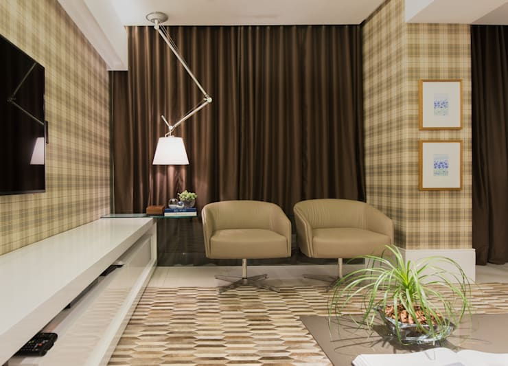 HOME THEATER: Salas multimídia  por Matheus Menezes Arquiteto