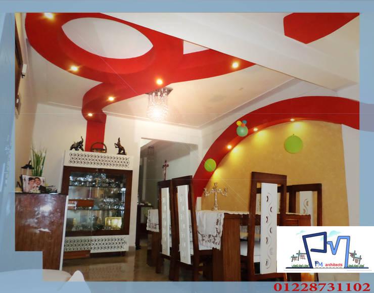 تصميم و تنفيذ شقة فى الاسكندرية بالفرش :  غرفة السفرة تنفيذ pm architects