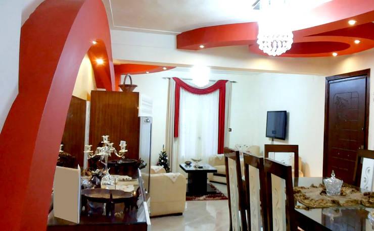 تصميم و تنفيذ شقة فى الاسكندرية بالفرش :  تصميم مساحات داخلية تنفيذ pm architects