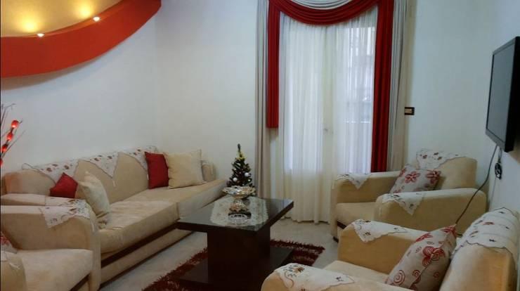 تصميم و تنفيذ شقة فى الاسكندرية بالفرش :  بلكونات وشرفات تنفيذ pm architects