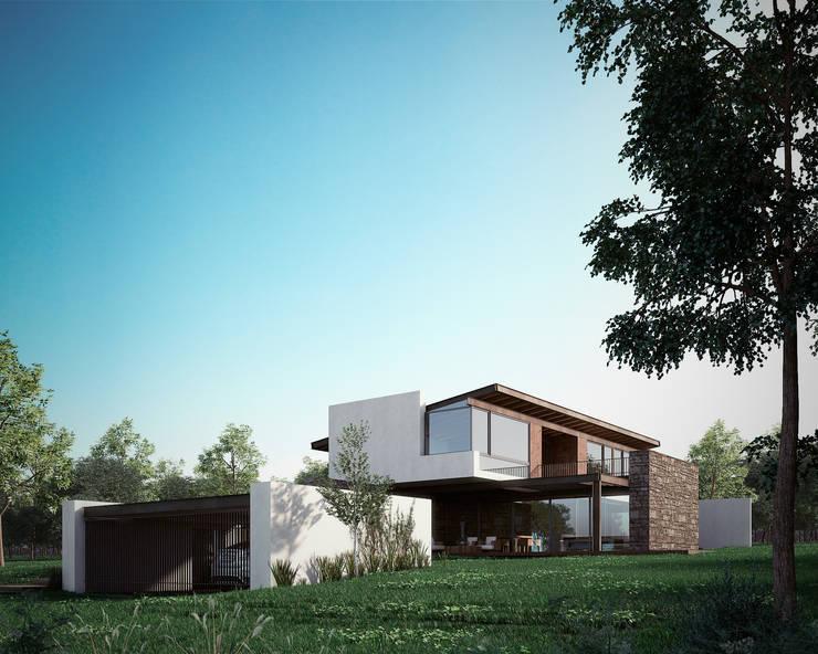 Fachada : Casas de estilo  por BAG arquitectura
