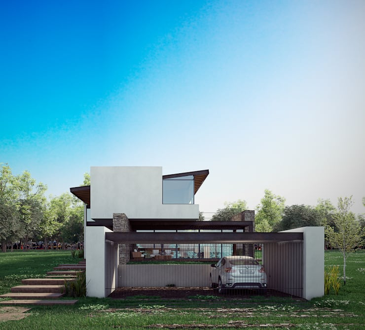 Houses by BAG arquitectura, Modern Iron/Steel