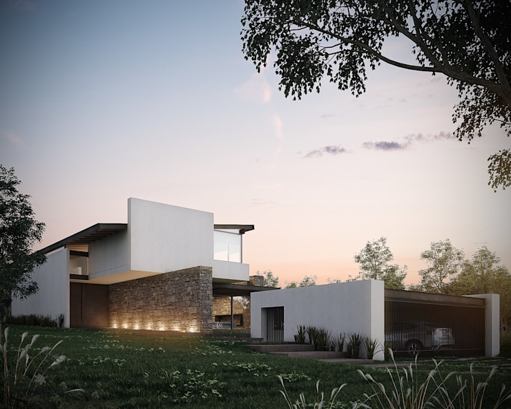 Houses by BAG arquitectura, Modern Stone