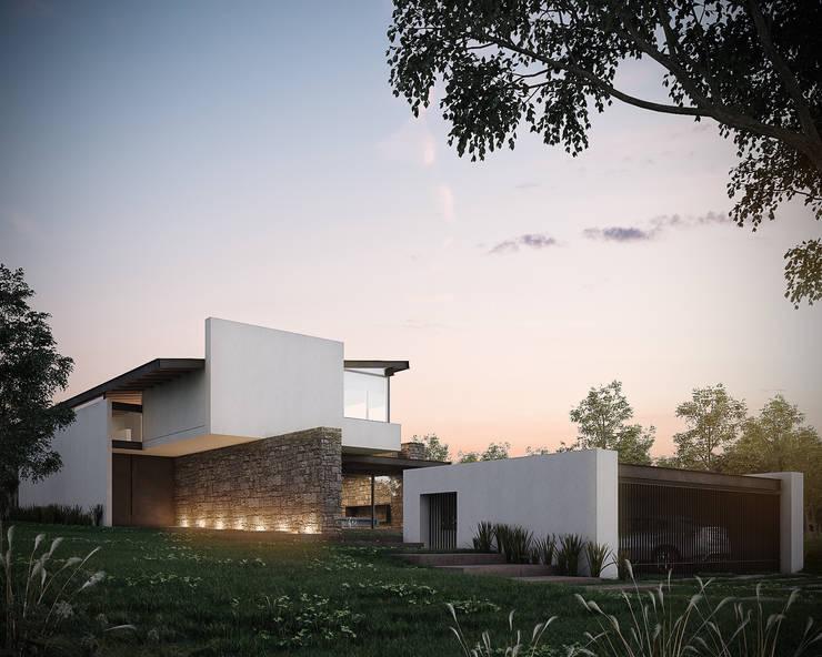 Rumah oleh BAG arquitectura, Modern Batu