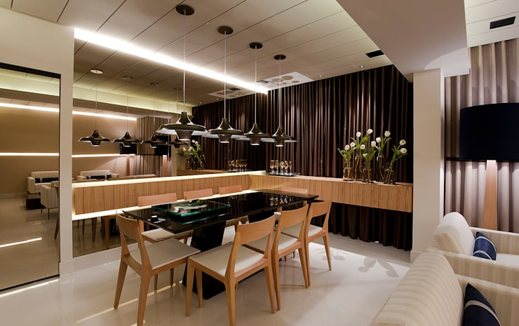 SALA DE JANTAR: Salas de jantar  por Matheus Menezes Arquiteto