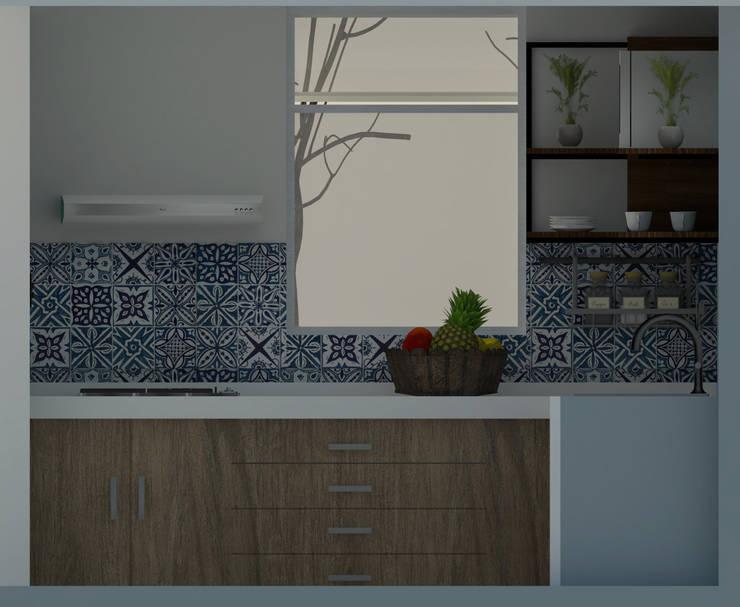 Cocina : Cocinas de estilo  por GT-R Arquitectos