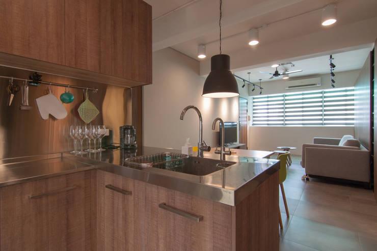 Projekty,  Kuchnia zaprojektowane przez 珞石設計 LoqStudio
