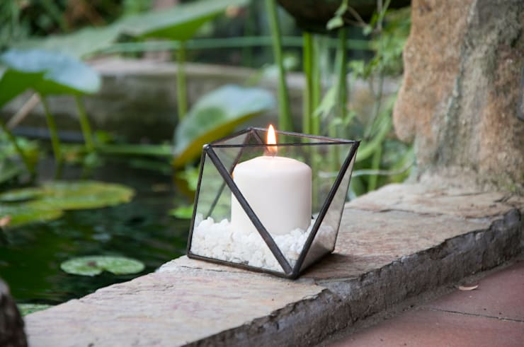 Terrario Octaedro mediano: Jardín de estilo  de ZetaGlass