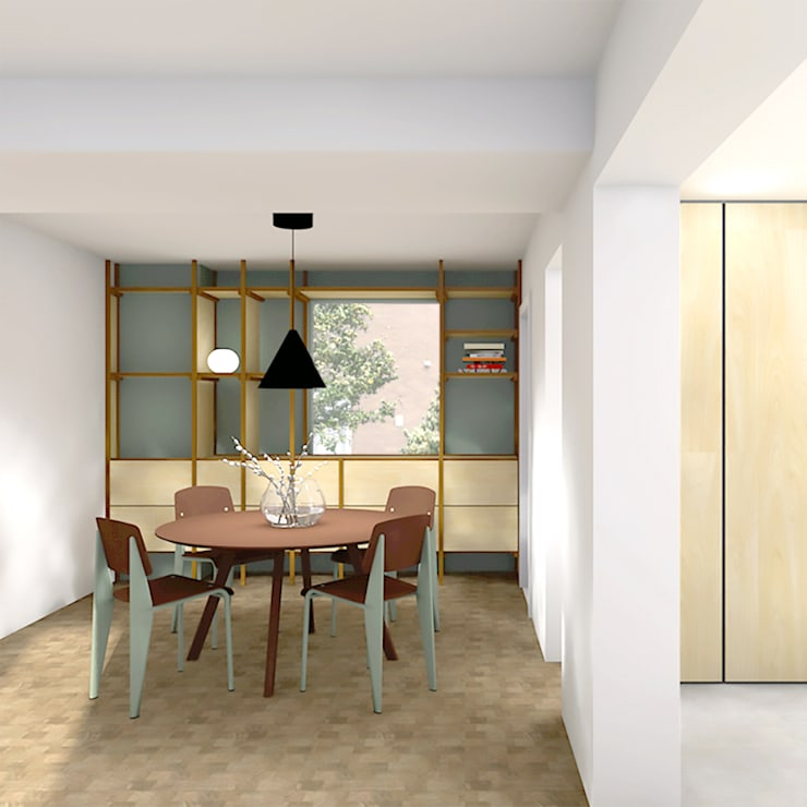 Dining room by De Nieuwe Context, Modern Copper/Bronze/Brass