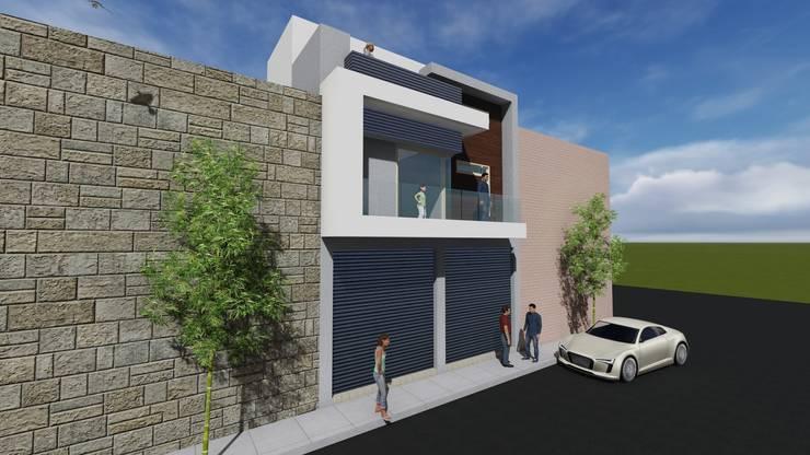 casa habitacion: Casas de estilo  por JL2 Arquitectura y Urbanismo