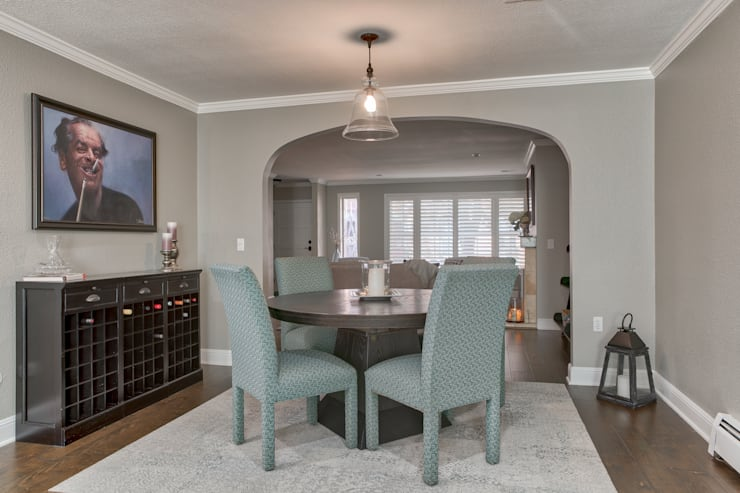 Cherry Creek Town Home :  Dining room by Studio Design LLC