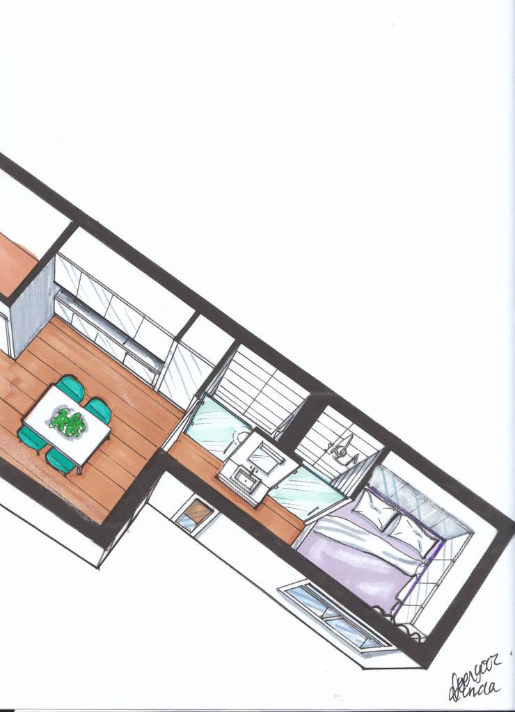 Verbouwing geheel pand Singel te Amsterdam Badkaamer Keuken:   door LINDESIGN Amsterdam Ontwerp Design Interieur Industrieel Meubels Kunst