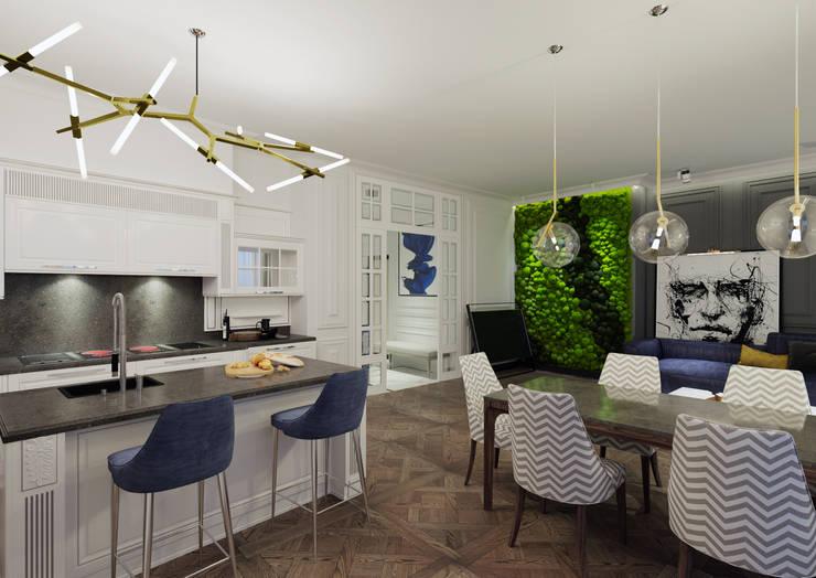Cocinas de estilo  por Дизайн Мира