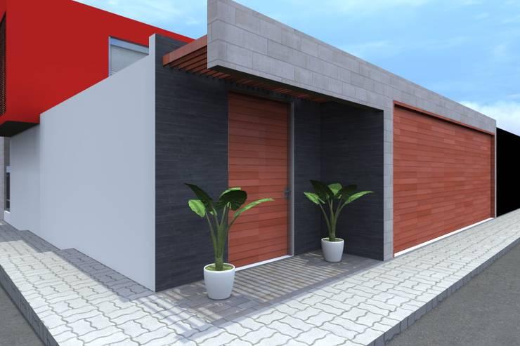 VIVIENDA UNIFAMILIAR: Casas de estilo  por TECTONICA STUDIO SAC