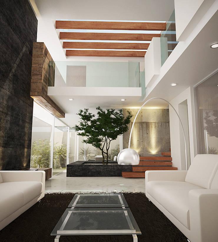 VISTA INTERIOR : Salas de estilo  por 9.15 arquitectos