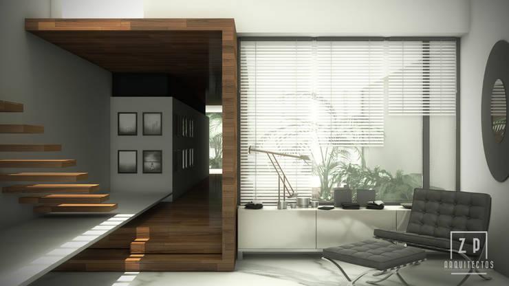 DISEÑO EN 3D DE INTERIORES: Estudio de estilo  por ZP ARQUITECTOS