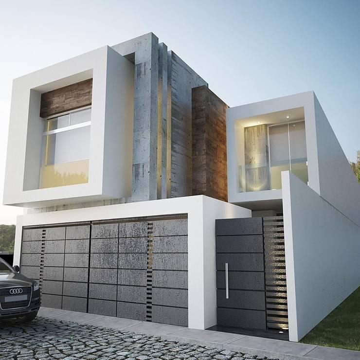 FACHADA PRINCIPAL: Casas de estilo  por 9.15 arquitectos
