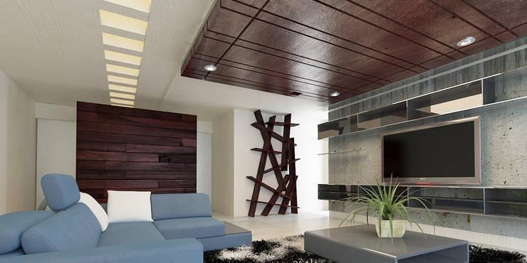 INTERIOR: Salas multimedia de estilo  por 9.15 arquitectos