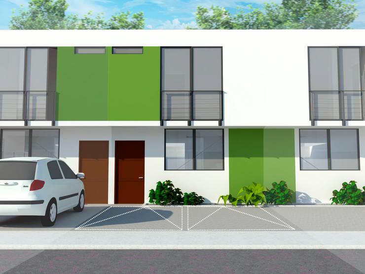 Fachada : Casas de estilo  por Polygon Arquitectura