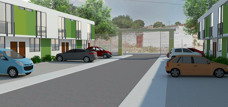 Exterior del Conjunto: Casas de estilo  por Polygon Arquitectura
