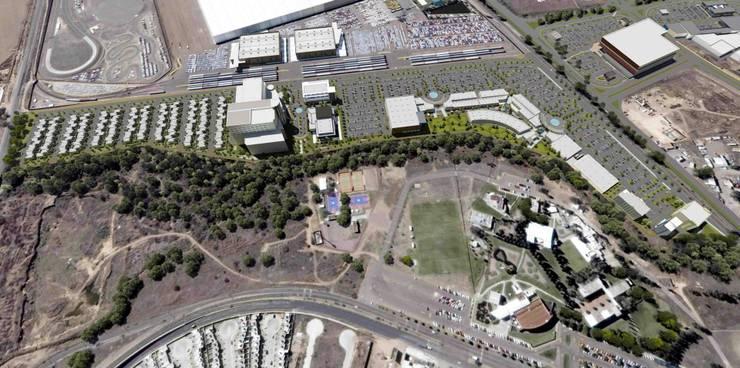 Terreno Oriente Usos Mixtos: Oficinas y tiendas de estilo  por Segovia ARQ