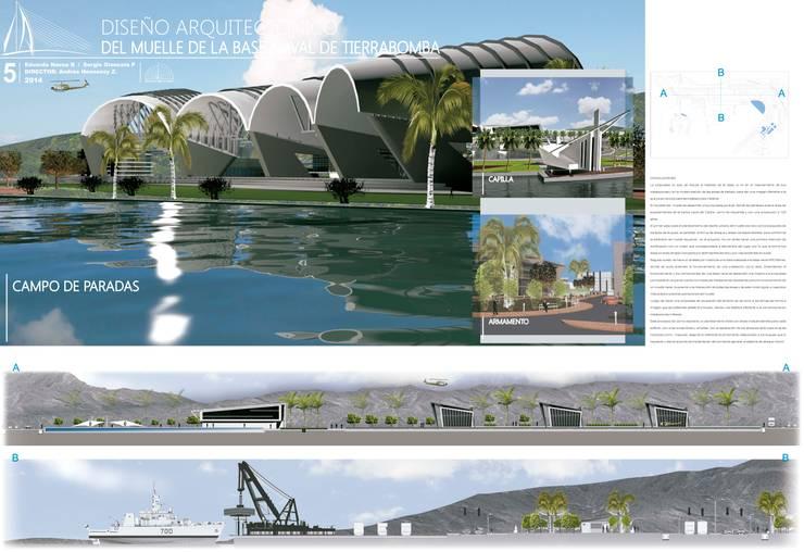 IMAGENES Y SECCIONES GENERALES :  de estilo  por EDUARDO NOVOA ARQUITECTO INDEPENDIENTE