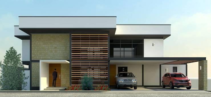 Fachada Principal: Casas de estilo  por Arq. Rodrigo Culebro Sánchez
