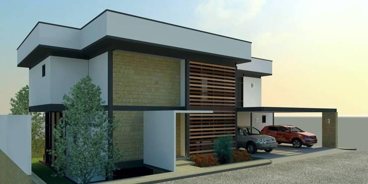 Fachada Lateral: Casas de estilo  por Arq. Rodrigo Culebro Sánchez