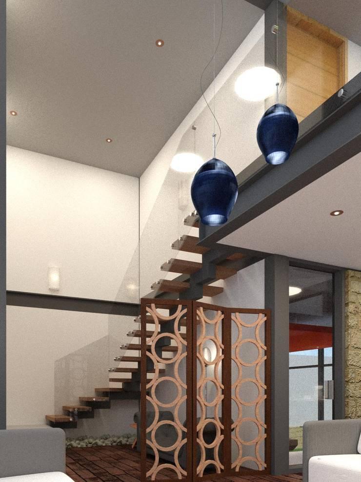 Recividor y Vestíbulo: Pasillos y recibidores de estilo  por Arq. Rodrigo Culebro Sánchez