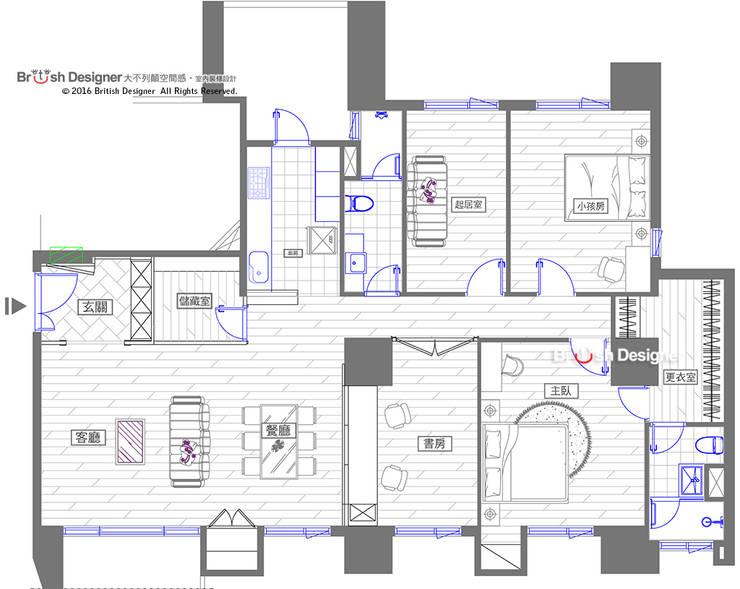 平面圖:   by 大不列顛空間感室內裝修設計