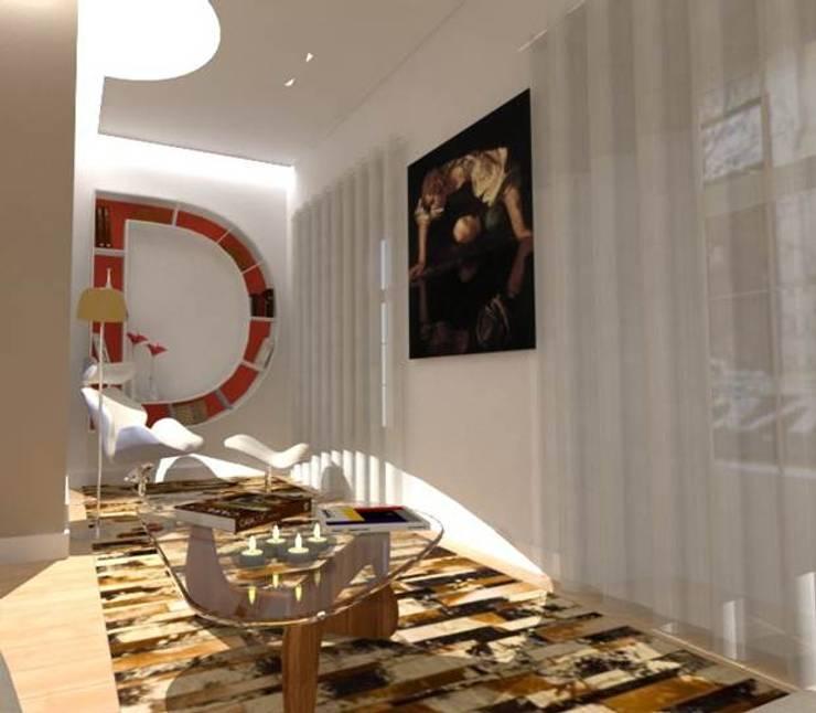 CASA AUGUSTA - Zona de Leitura: Salas de estar  por EGO Interior Design