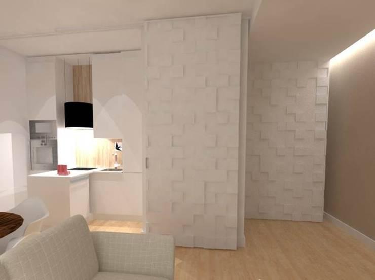 CASA AUGUSTA - Sala Comum: Salas de estar  por EGO Interior Design
