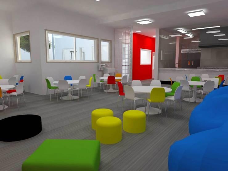 COLÉGIO  -  Zona de Convívio e Refeitório: Escolas  por EGO Interior Design