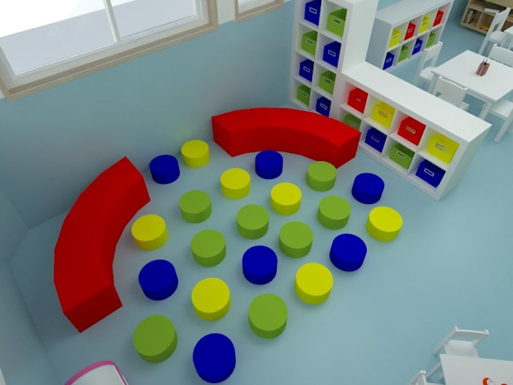 COLÉGIO  -  Sala Infantil: Escolas  por EGO Interior Design
