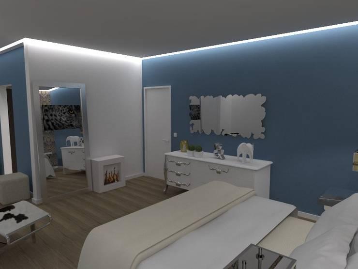 Quarto de Casal: Quartos  por EGO Interior Design